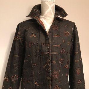 🇨🇦Vintage Chico's Collection Denim Jacket